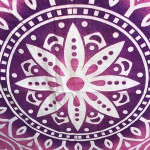 Purple pink boho mandela wall tapestry bedspread
